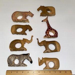 Vintage Wood Safari Napkin Rings